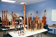 "It""s the forest of recorders (and viols) at Lazar""s Early Music shop!"