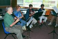 Harald, Gary, Margaret and Suzanne playing in a consort class.